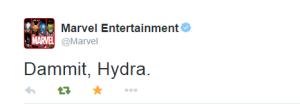 Marvel Entertainment on Twitter   Dammit  Hydra.